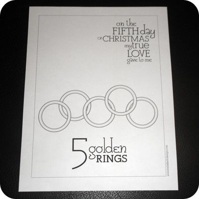 12 days of christmas five golden rings pictures